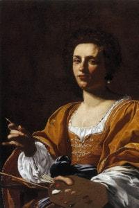 Ritratto di Artemisia Gentileschi. Collezione del Palazzo Blu a Pisa. Artista: Simon Vouet