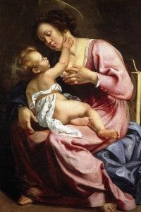 La Madonna col bambino di Artemisia, 1610