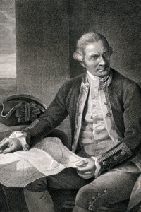 Ritratto di James Cook, esploratore britannico, navigatore, cartografo e capitano della Royal Navy