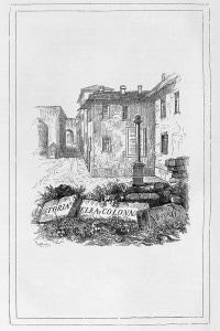 Storia della colonna infame di Alessandro Manzoni, frontespizio di Francesco Gonin