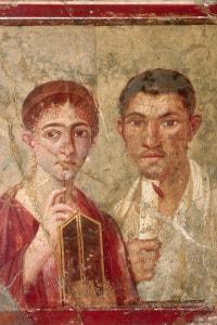 Affresco di Pompei: ritratto di Terenzio Neo e sua moglie