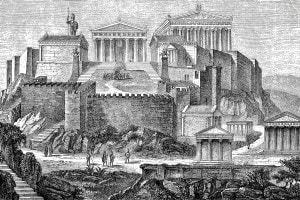 Acropoli di Atene ai tempi di Pericle