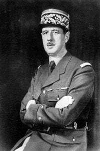 Il generale francese e primo presidente della Quinta Repubblica Charles de Gaulle