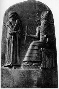 Re Hammurabi di Babilonia, 1818 a.C.-1750 a.C. Scultura in rilievo