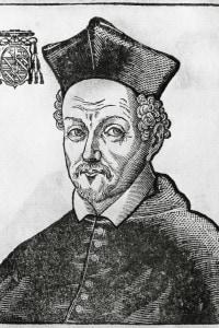 Federico Borromeo (1564-1631), cardinale dal 1587 e arcivescovo di Milano dal 1595. Incisione, 1628