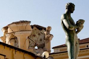 Immagine del terremoto del 2009 a L'Aquila