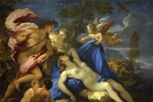 Arianna abbandonata da Teseo in un dipinto di Giordano, Luca (1632-1705)