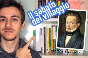 Il sabato del villaggio di Giacomo Leopardi: analisi e spiegazione a cura di Emanuele Bosi