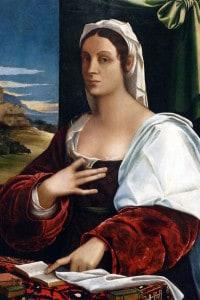 Ritratto di Vittoria Colonna: nobildonna e poetessa italiana. Dipinto di Sebastiano del Piombo