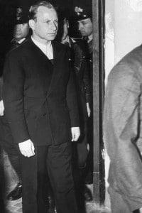 Herbert Kappler, 1947. Ex colonnello delle SS durante il processo a Roma per crimini di guerra