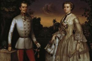Ritratto dell'imperatore Francesco Giuseppe e di sua moglie Elisabetta