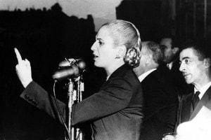 Discorso elettorale di Eva Peròn durante le manifestazioni a Buenos Aires nel 1951