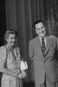 Eva Peròn e suo marito Juan Domingo Peròn