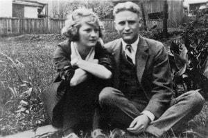 Zelda con il marito Scott Fitzgerald