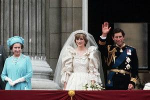 Elisabetta II, la principessa Diana e il principe Carlo