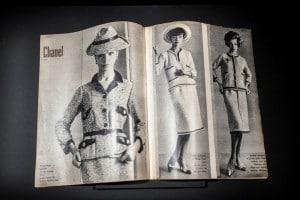 Rivista con le creazioni di Coco Chanel