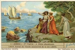 Didone si dispera vedendo le navi troiane allontanarsi da Cartagine