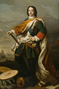 Ritratto dell'Imperatore Pietro I il Grande (1672-1725). Collezione del Nationalmuseum di Stoccolma