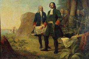 Pietro il Grande e la fondazione di San Pietroburgo. Collezione della Galleria Statale Tretyakov, Mosca