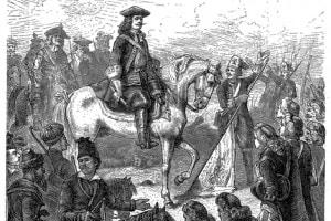 Pietro il Grande nella battaglia di Poltava