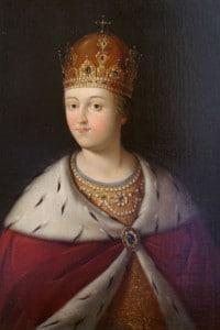 Ritratto della reggente Sofia Alexeyevna Romanova, la sorellastra di Pietro il Grande