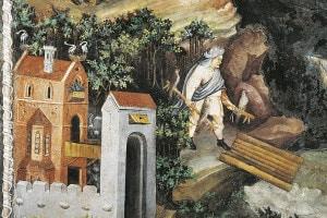 Caccia con falco, affresco del XV secolo attribuito al pittore boemo Venceslao