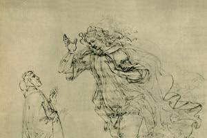 Dante e Beatrice in una illustrazione del 1943