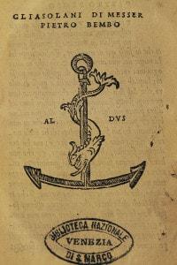 Gli Asolani di Pietro Bembo. Biblioteca Nazionale di San Marco. Venezia, 1505