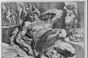 Ulisse e i suoi compagni accecano il ciclope