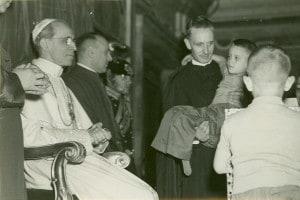 Don Carlo Gnocchi in udienza da Pio XII