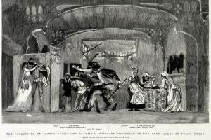 Falstaff di Giuseppe Verdi alla Scala di Milano il 9 febbraio 1893. Collezione del Museo Teatrale alla Scala