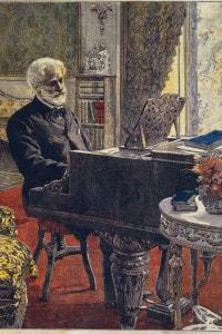 Il compositore Giuseppe Verdi (1813-1901)