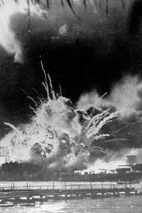 Attacco giapponese a Pearl Harbor il 7 dicembre 1941