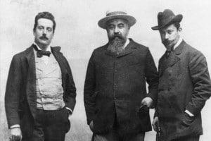 Giacomo Puccini e i suoi librettisti Illica e Giacosa, 1890