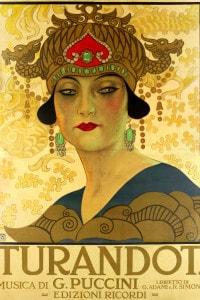 Manifesto per l'opera Turandot al Teatro alla Scala, 1926