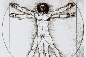 L'uomo vitruviano, simbolo dell'umanesimo