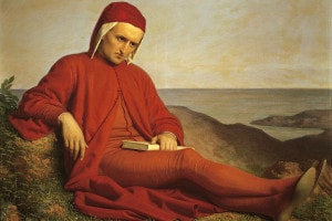 Dante Alighieri, olio su tela di Domenico Petarlini. Galleria D'Arte Moderna, Firenze