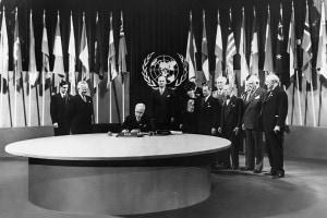 Firma della Carta delle Nazioni Unite a San Francisco, in California, 1945