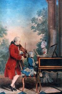 Famiglia Mozart a Parigi nel 1763