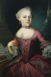 Ritratto di Maria Anna Mozart, detta Nannerel (1751-1829): pianista austriaca e sorella di Wolfgang Amadeus. Salisburgo, Mozarts Geburtshaus Museum