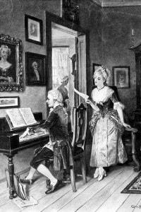 Mozart e la cantante Aloysia Weber