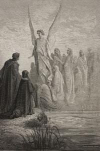 Canto II del Purgatorio di Dante: l'arrivo dell'angelo nocchiero