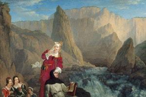 Laura e Petrarca in un dipinto di Philippe-Jacques van Bree del 1816