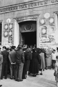 Elezioni politiche italiane del 1948. Elettori in coda