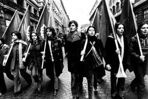 Roma, anni '70. Manifestazione per il voto a 18 anni