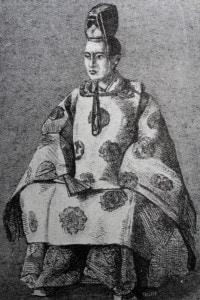 Ritratto di Tokugawa Yoshinobu (1837-1913): il quindicesimo e ultimo shogun del Giappone