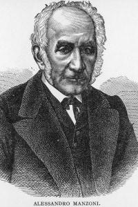 Alessandro Manzoni  (1785-1873) in un ritratto del 1850 circa