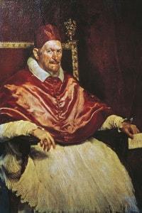 Ritratto di Papa Innocenzo X (Roma, 1574-1655). Olio su tela di Diego Velasquez