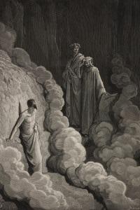 Canto XVI del Purgatorio: Dante guidato da Virgilio nella terza cornice incontra Marco Lombardo