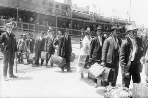 Emigranti in arrivo a Ellis Island